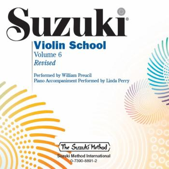 Suzuki Violin School CD, Volume 6 (Revised) (AL-00-39269)