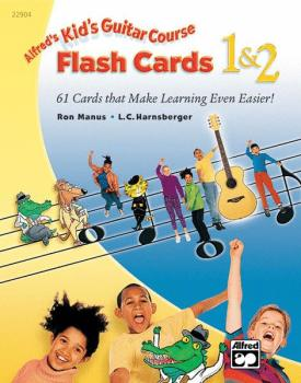 Alfred's Kid's Guitar Course Flash Cards 1 & 2: 61 Cards That Make Lea (AL-00-22904)