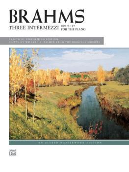 3 Intermezzi, Opus 117 (AL-00-2417)