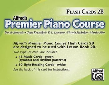 Premier Piano Course, Flash Cards 2B (AL-00-25727)