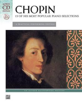 19 of His Most Popular Piano Selections: A Practical Performing Editio (AL-00-28048)