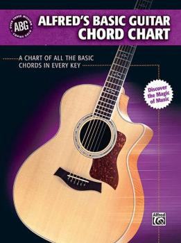 Alfred's Basic Guitar Chord Chart: A Chart of All the Basic Chords in  (AL-00-28386)