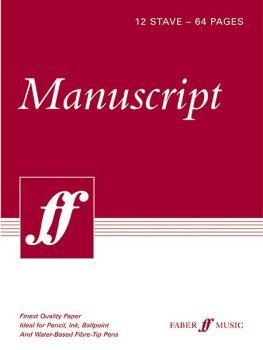 "Manuscript Paper: 12 Stave Full Size (8.5"" x 12"") (AL-12-057152706X)"