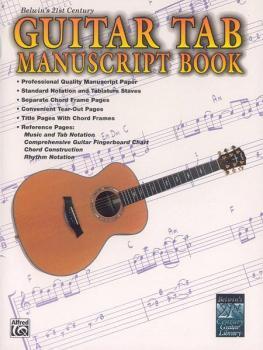 Belwin's 21st Century Guitar TAB Manuscript Book (AL-00-EL9713A)