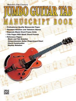 Belwin's 21st Century Jumbo Guitar TAB Manuscript Book (AL-00-EL9930)