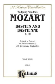Bastien und Bastienne, K. 50, A Comic Opera in One Act (For Solo and O (AL-00-K06312)