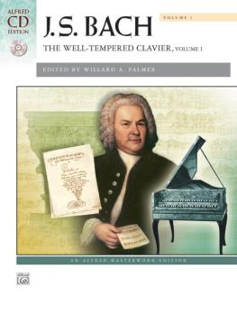 J. S. Bach: The Well-Tempered Clavier, Volume I (AL-00-41426)