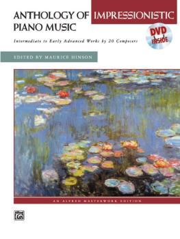 Anthology of Impressionistic Piano Music with Performance Practices in (AL-00-22581)