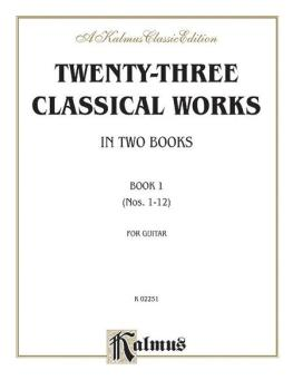 Twenty-Three Classical Works for Two Guitars, Book 1 (AL-00-K02251)