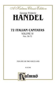 72 Italian Cantatas for Soprano or Alto, Volume IV, Nos. 56-72 (AL-00-K01346)