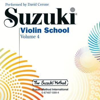 Suzuki Violin School CD, Volume 4 (AL-00-0599)