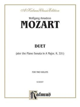Duet (after the Piano Sonata in A Major, K. 331) (AL-00-K02227)
