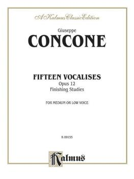 Fifteen Vocalises, Opus 12 (Finishing Studies) (AL-00-K09155)