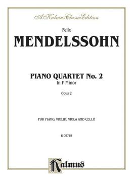 Piano Quartets No. 2 in F Minor, Opus 2 (AL-00-K09719)