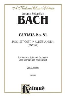 Cantata No. 51 -- Jauchzet Gott in Allen Landen (For Soprano Solo and  (AL-00-K09402)