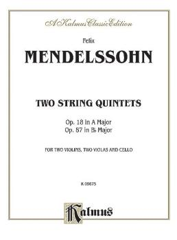 Two String Quintets, Opus 18 (A Major) & Opus 87 (B-flat Major) (AL-00-K09675)