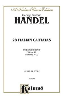 28 Italian Cantatas with Instruments, Volume III, Nos. 16-23 (Various  (AL-00-K01349)