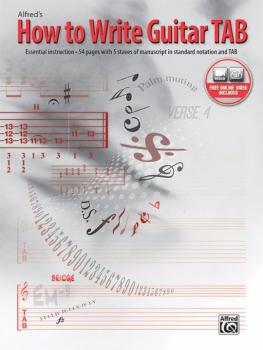 How to Write Guitar TAB: Essential Instruction, 54 Pages with 5 Staves (AL-00-45294)