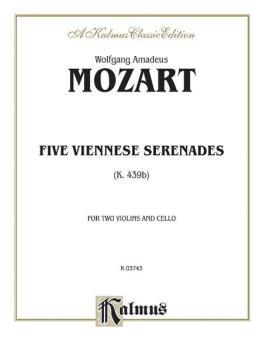 Five Viennese Serenades K. 439b (AL-00-K03743)