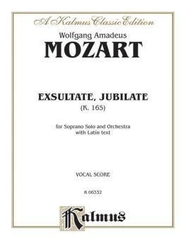 Exsultate, Jubilate (K. 165) (For Soprano Solo and Orchestra with Lati (AL-00-K06332)