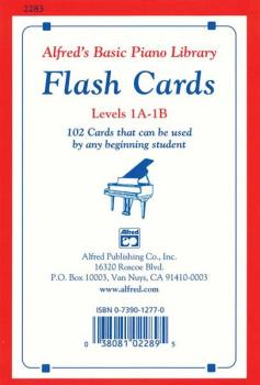 Alfred's Basic Piano Library: Flash Cards, Levels 1A & 1B: 102 Cards T (AL-00-2283)