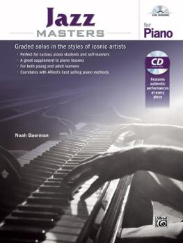 Jazz Masters for Piano: Graded Solos in the Styles of Iconic Artists (AL-00-44480)