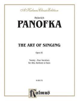 The Art of Singing; 24 Vocalises, Opus 81 (AL-00-K09175)