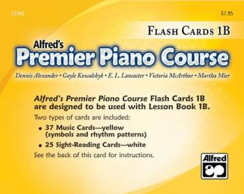 Premier Piano Course, Flash Cards 1B (AL-00-22366)