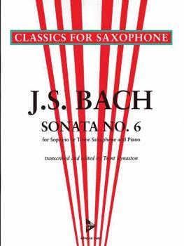 Sonata No. 6 A Major BWV 1035 (For Soprano or Tenor Saxophone and Pian (AL-01-ADV7043)