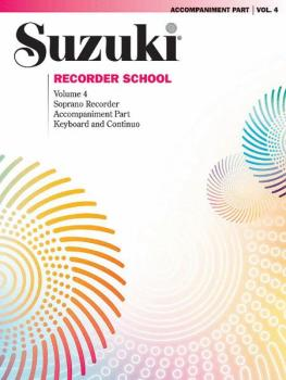 Suzuki Recorder School (Soprano Recorder) Accompaniment, Volume 4 (AL-00-0564)