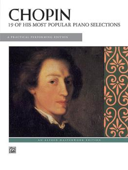 19 of His Most Popular Piano Selections: A Practical Performing Editio (AL-00-389)