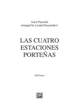 Las Cuatro Estaciones Porteñas (For Solo Violin and String Orchestra) (AL-00-38942)