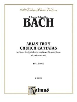 Arias from Church Cantatas (For Bass, Obbligato Instruments and Piano  (AL-00-K06828)