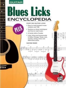 Blues Licks Encyclopedia: Over 300 Guitar Licks (AL-00-18502)