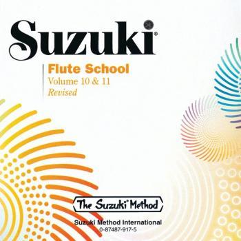 Suzuki Flute School CD, Volume 10 & 11 (Revised) (AL-00-0917)