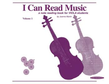 I Can Read Music, Volume 1: A note reading book for VIOLA students (AL-00-0440)