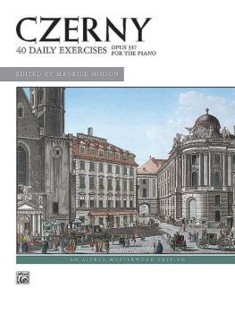 Czerny: 40 Exercises, Opus 337 (AL-00-4830)