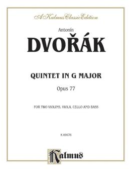 Quintet in G Major, Opus 77 (For Two Violins, Viola, Cello and Bass) (AL-00-K09676)