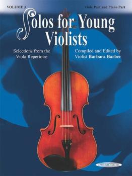 Solos for Young Violists Viola Part and Piano Acc., Volume 3: Selectio (AL-00-18670X)