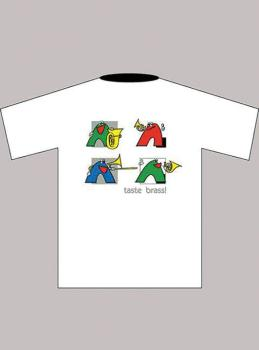 Taste Brass! T-Shirt: White (Children's Medium) (AL-01-ADV95003)