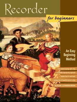 Recorder for Beginners: An Easy Beginning Method (AL-00-19407)