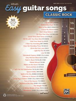 Alfred's Easy Guitar Songs: Classic Rock: 50 Hits of the '60s, '70s &  (AL-00-45153)