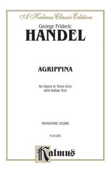 Agrippina (1709), An Opera in Three Acts (AL-00-K01254)