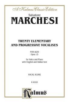 Twenty Elementary and Progressive Vocalises, Opus 15 (AL-00-K06295)