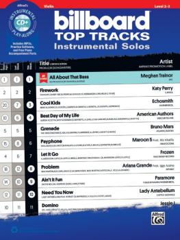 Billboard Top Tracks Instrumental Solos for Strings (AL-00-44421)