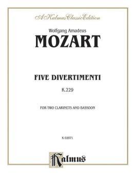 Five Divertimenti, K. 229 (AL-00-K02071)
