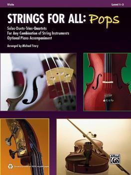 Strings for All: Pops: Solo-Duet-Trio-Quartet with Optional Piano Acco (AL-00-37027)