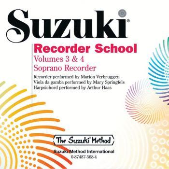 Suzuki Recorder School (Soprano Recorder) CD, Volume 3 & 4 (AL-00-0568)