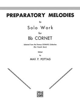 Preparatory Melodies to Solo Work for B-flat Cornet (AL-00-EL00338)