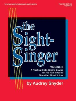The Sight-Singer, Volume II for Two-Part Mixed/Three-Part Mixed Voices (AL-00-SVB00111)